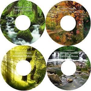 Woodland Autumn Brook Stream 4 CDs Relaxation Stress Anxiey Relief Help Sleep