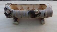 VASO PORTA FIORI in legno di BETULLA - 1 - rustico vecchio stile - piante grasse