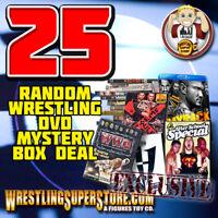 DVD Special Deal: 25 Randomly Assorted Wrestling DVDs Lot for $60.00