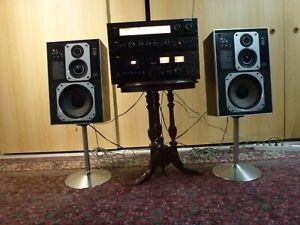 Philips MFB Stereoanlage Deck N 2537, Box 2x 587, Vorverstärker 270, Tuner 170,