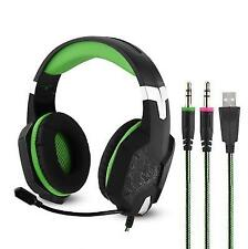 3.5mm &usb Gaming Headset Mic LED Headphones Stereo for Laptop Ps3 Ps4 Xbox One