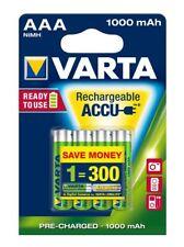 VARTA Rechargeable Akku AAA Micro 4er 1000mAh (Entladeschutz) NiMH NEU OVP