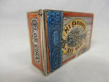 Silbernes Streichholz Etui Vesta Case KEY WEST Zigarrenkiste cigar box Emaille