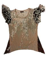 NWOT FYLO Women's Dress Casual Shirt - ANIMAL PRINT, SMALL