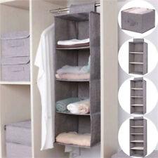 5 Gril Hanging Shelf Closet Organizer Cloth Storage Wardrobe Rack Hanger Shelves