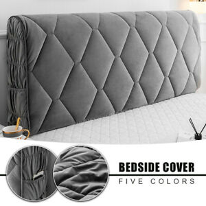 Thick Quilted Headboard Cover Soft Bed Head Back Decor Protector Slipcover