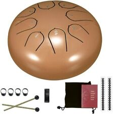 More details for steel tongue drum,tendlife 6 inch hand pan percussion drum, 8 tune drumsticks