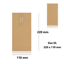 More details for quality dl brown string & washer bottom & tie envelopes mailer manilla cheap