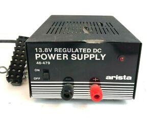 Vintage Arista 13.8V Regulated DC Power Supply - 120v input  - 46-479
