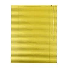 Alu - Aluminium Jalousie 25 mm Lamellen , 85 x 120 cm, Farbe gelb