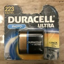 DURACELL ULTRA Photo Battery  SEALED NEW  Lithium 223  FREE SHIP