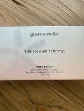 Grace & Stella Rose Quartz Facial Massager Roller NIB - This Rose Ain't Thorny