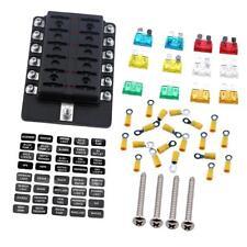 Automotive 12 Way Fuse Box Holder Block 12V-32V Circuit Blade Fuse Terminals