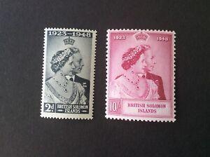 Solomon Islands 1948 GV Silver Wedding Very Lightly Hinged Mint