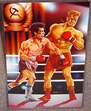 Rocky vs Ivan Drago Glossy Art Print 11 x 17 In Hard Plastic Sleeve