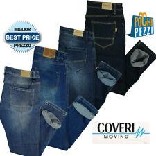 Jeans Uomo Slim Fit Elasticizzato aderente chiari tasca america COVERI 46 52 54