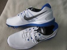Nike White/Blue Lunar Control 3 Size 11 Golf Shoes New With Box