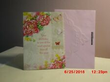 Carol's Rose Garden - Birthday - Beautiful flowers & butterflies on cover