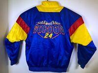 VTG NASCAR Jeff Gordon Car Racing Nutmeg Jacket Coat Men's Size L Large Satin 24
