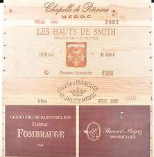 1 LOT N° 04 ESTAMPES façade caisse en bois pour cave à vin WWW.I-FRANCEWINE.FR