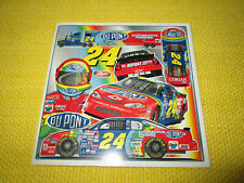 "NASCAR JEFF GORDEN 6"" X 6""  PICTURE OF CAR #24 DUPONT 20 Year SPONSOR"