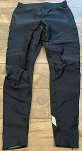 SUGOi Black Cycling Pants Polyurethane Coated Reflective No Padding womens XL