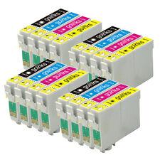 16 Cartucce d'Inchiostro (Set) per Epson Stylus D120 DX7400 SX115 SX610FW