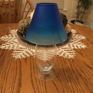 PARTYLITE RARE FIND OCEAN BLUE CANDLE LAMP