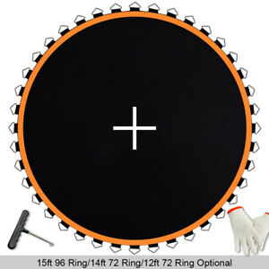 "161"" Replacement Mat Fit 15ft Trampoline 6.5"" Spring 96 Rings Jumping Surface"