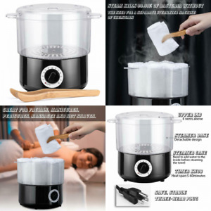 Mini black portable towel warmer or steamer, this is a simple and...