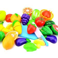 Fruit Role Play Fruit Vegetable Food Cutting Set Reusable New Pretend Kitchen ES