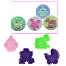 4x Easter Baby Fondant Cake Cookie Decorating Plunger Cutter Stamp Mould Tools