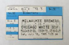 1995 MILWAUKEE BREWERS VS CHICAGO WHITE SOX TICKET STUB 7-16 COUNTY STADIUM