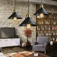 Retro Pendant Lamp Loft Ceiling Light Metal Shade Dining Adjustable Hanging Cord
