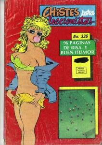 CHISTES PARA COLECCIONISTAS N.-336 from 1991 MINA Mexican Comic Jokes Sexy Girls