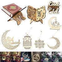 Eid Mubarak Party Ornaments Wooden Vintage Muslim Ramadan Festival Decor AU