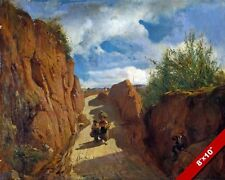 THE PATH TO GRANOLLERS NEAR BARCELONA SPAIN PAINTING ART REAL CANVAS PRINT