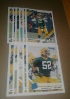 2019 Donruss Green Bay Packers Team Set, Aaron Rodgers, 11 cards 4 RC