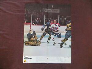 1976 Yvan Cournoyer Poster Montreal Canadiens vs New York Rangers Program Hockey