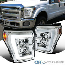 Fit Ford 11-16 F250 F350 F450 F550 Super Duty Clear LED Bar Projector Headlights