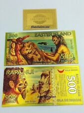 Billete Oro Goldfield Isla De Pascua Easter Island Rapa Nui 500 Rongo