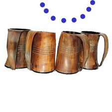 Four 800 ml Viking Drinking Horn Mugs cups Tankard for beer wine