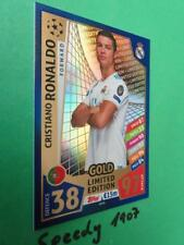 Topps Champions League 2017 18 limited Edition Ronaldo Gold Match Attax LE1G