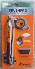 Frogger Brush Pro Retractable Dual-Bristle Club Brush/Groove Cleaner Orange