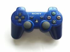 Oficial Genuino Original Sony Dual Shock 3 PS3 Controller Azul