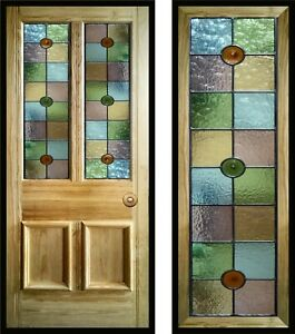Traditional Stained Glass Door Panels, Made To Measure, Victorian, Edwardian etc
