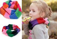 Girls' Infinite Winter Warmer Scarf Multi Rainbow Color Stripe