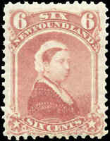 Mint NH Canada Newfoundland 1870 F 6c Scott #35 Queen Victoria Stamp