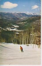 Ski Poster Early Cranmore MT Scene skiing the Arlberg Trail North Conway NH