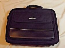 MANHATTEN 15 INCH SOFT COVERED BLACK NOTEBOOK COMPUTER BRIEFCASE- USED